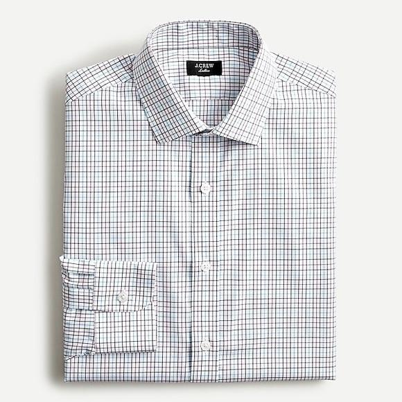 J. Crew Slim Ludlow Stretch Cotton Poplin Shirt